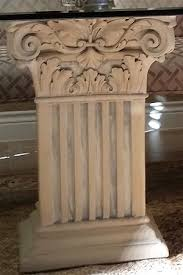 Greek Pedestal Square Fluted Corinthian Table Base Classical Dining Room Table