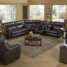 reclining sectional sofa with right console by catnapper wolf