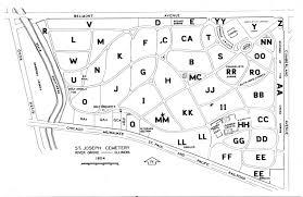 St Joseph River Map Saint Joseph Cemetery In River Grove Illinois Find A Grave Cemetery
