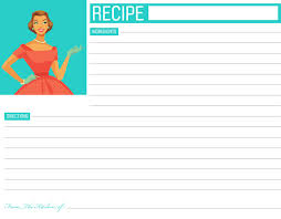 free printable recipe pages free printable recipe cards