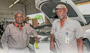lexus body shop service technicians retire after working together for 30 years