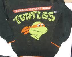 vintage sweater mutant turtle etsy