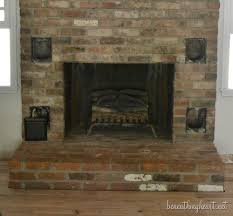 Remove Brick Fireplace by Fireplace Makeover Reveal Beneath My Heart