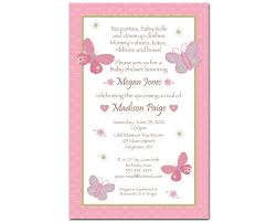 baby shower invites for girl s baby girl baby shower invitations butterfly flowers