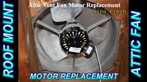 who replaces attic fans roof mount attic fan motor replacement youtube