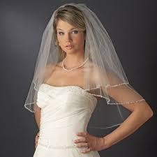 bridal veil dazzling beaded edge bridal veil bridal hair