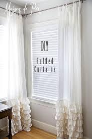Grey Shabby Chic Curtains by White Ruffledains Shabby Chic Ruffle Grey Showerain Burlap Swag