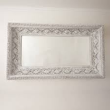 two metre large u0027shabby chic u0027 whitewashed mirror by decorative