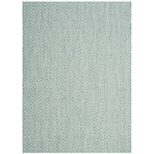 Safavieh Outdoor Rug Safavieh Courtyard Light Blue Light Gray 4 Ft X 5 Ft 7 In