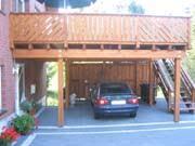 carport mit balkon zimmerei käding zindler brakel wir zimmern mit und verstand
