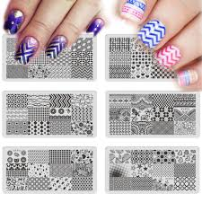 online get cheap nail geometric stamping plates aliexpress com