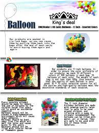 amazon com king u0027s deal 100 10color x 10 latex balloons 11 inch