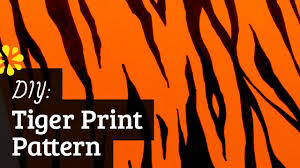 how to tiger pattern