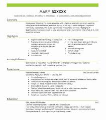 Macy S Resume Best Restaurant Bar Delivery Driver Resume Example Livecareer