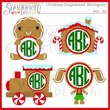 monogram christmas sanqunetti design christmas clipart