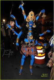 heidi klum seal halloween party heidi klum is a blue indian goodess photo 1523481 heidi klum