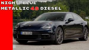 porsche panamera hatchback 2017 2017 porsche panamera 4s diesel night blue metallic youtube