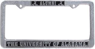 of alabama alumni car tag alumni pewter tag frame