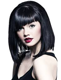 jet black short hair stylish asymmetrical bangs hairstyles for short hair new