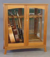 custom guitar cabinet makers hand made asian modern guitar cabinet by katahdin studio furniture