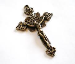 rosary crucifixes rosary crucifix 4 pendant charms antique bronze cross lead