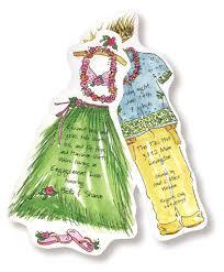 hawaiian themed wedding invitations luau bridal shower invitations myexpression 18004