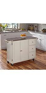 black kitchen island with stainless steel top amazon com home styles 4512 95 liberty kitchen cart with stainless