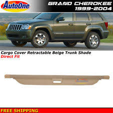 jeep grand trunk cover 99 04 jeep grand rear cargo privacy security cover ebay