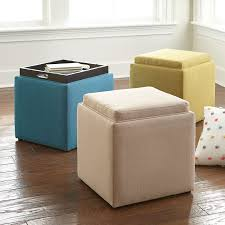 Ottoman With Tray Storage Ottoman With Tray Benches Ottomans Brylanehome