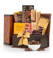 chocolate gift basket the godiva chocolatier collection chocolate gift basket