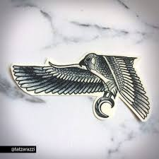 egyptian falcon fake temporary tattoo ankle foot celebrity