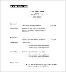 printable resume exles free printable resume template blank resume resume exles