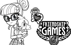 pony equestria girls friendship games coloring sheets