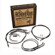 burly handlebar cable installation kit for harley sportster 2007