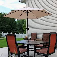 outdoor ls for patio sunnydaze aluminum patio umbrella tilt crank 7 5