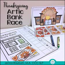 thanksgiving artic bank race no prep speech therapy by rayburn