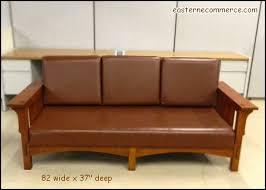 Mission Style Loveseat Used Arts U0026 Crafts Mission Style Leather Sofa