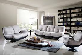 Black And White Home Interior Modern Living Room Apartment Design With Black And White Leather