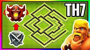 layout design th7 overpowered town hall 7 th7 trophy base champion base design