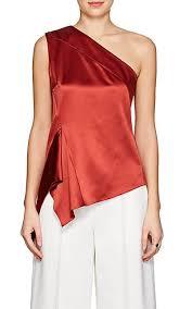 one shoulder blouse narciso rodriguez silk satin one shoulder blouse barneys york