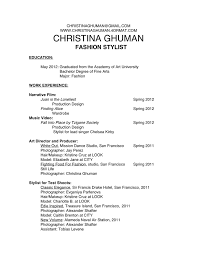 hairstylist resumes fashion stylist resume example contegri com