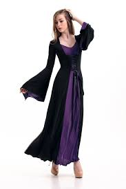 Halloween Costume Wedding Dress Purple Black Red Hooded Gown Gothic Halloween Costume Medieval