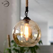 Industrial Glass Pendant Light Aliexpress Buy Loft Vintage Retro Industrial Glass Hemp