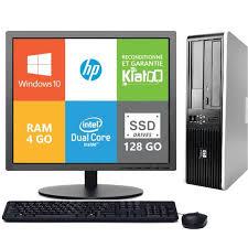ordinateur de bureau hp 7800 dual 4go ram 128go ssd disque dur