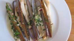 cuisiner des couteaux couteaux de mer poêlés recette par tortore