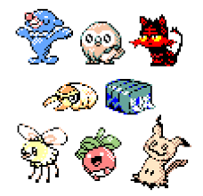 here s a small collection of gameboy styled sun moon sprites i ve