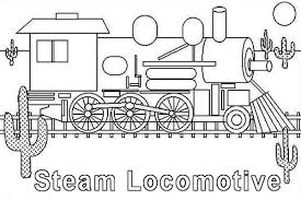 steam engine coloring train coloring pages steam lootive