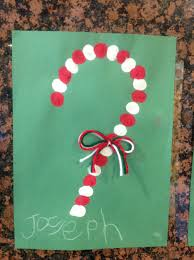 simple christmas craft for pre k paint yarn and thumbs