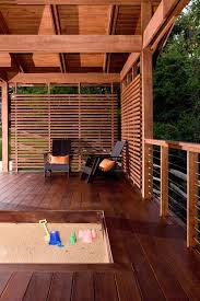 partially covered deck with privacy screen home sweet home