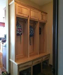 Mudroom Cabinets by Furniture Brown Wooden Shelf And Cabinet Using Seat Bench In